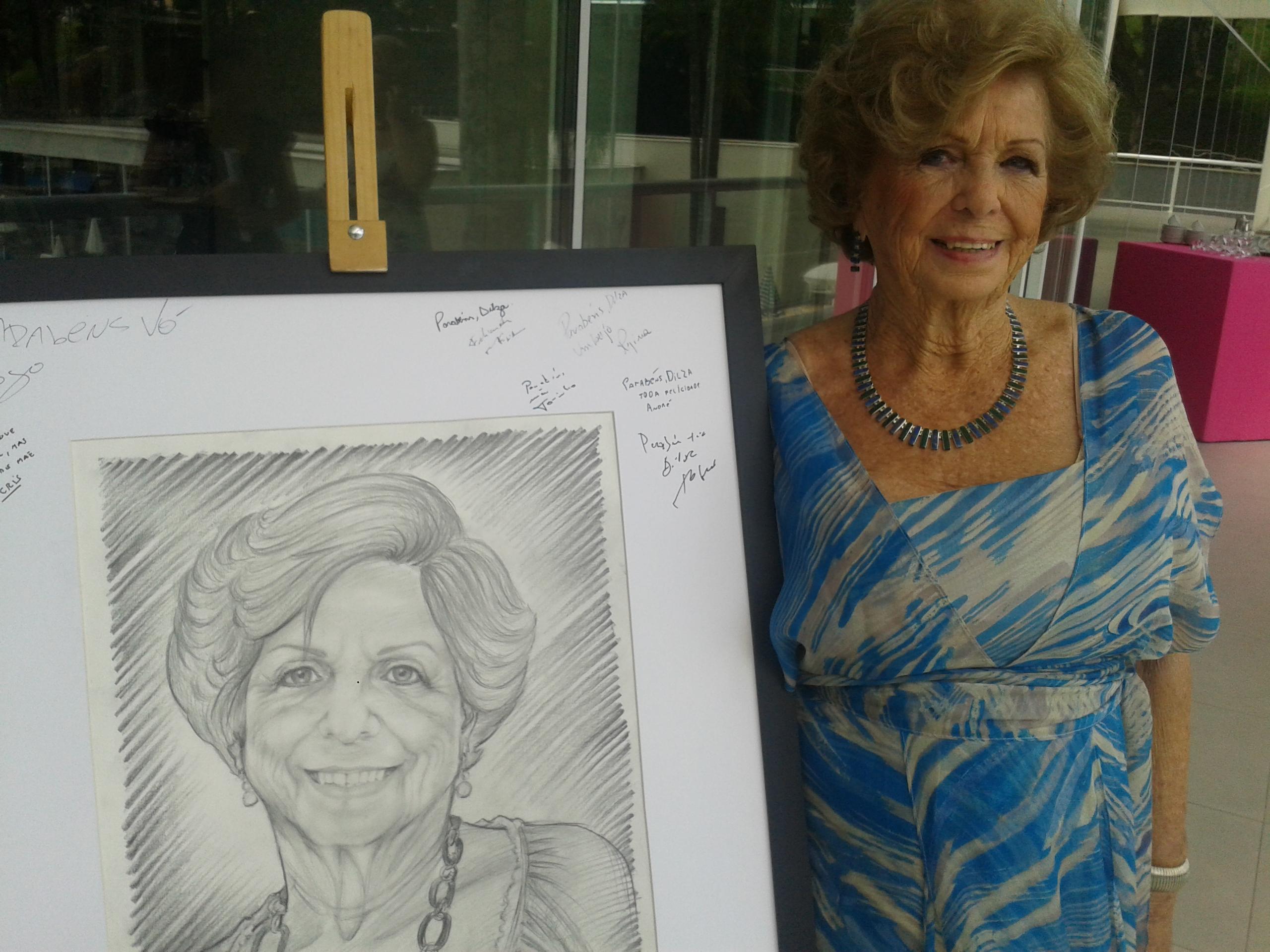 retrato desenhado
